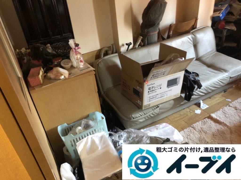 2019年1月16日大阪府大阪市大正区でお部屋の家具や家電などまるごと片付けさせていただきました。写真3