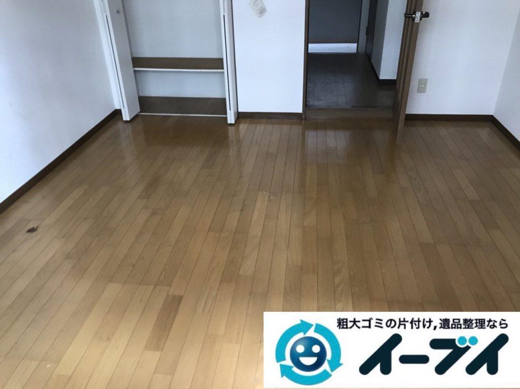 2019年1月11日大阪府大阪市北区でプチゴミ屋敷化した汚部屋の片付け処分の様子。写真6