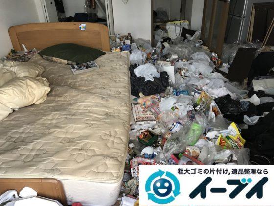 2019年1月11日大阪府大阪市北区でプチゴミ屋敷化した汚部屋の片付け処分の様子。写真5