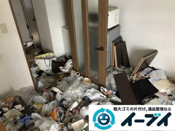 2019年1月5日大阪府大阪市港区で生活ゴミが溢れるゴミ屋敷状態の片付け作業。写真5