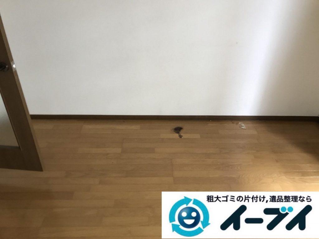 2019年1月5日大阪府大阪市港区で生活ゴミが溢れるゴミ屋敷状態の片付け作業。写真4