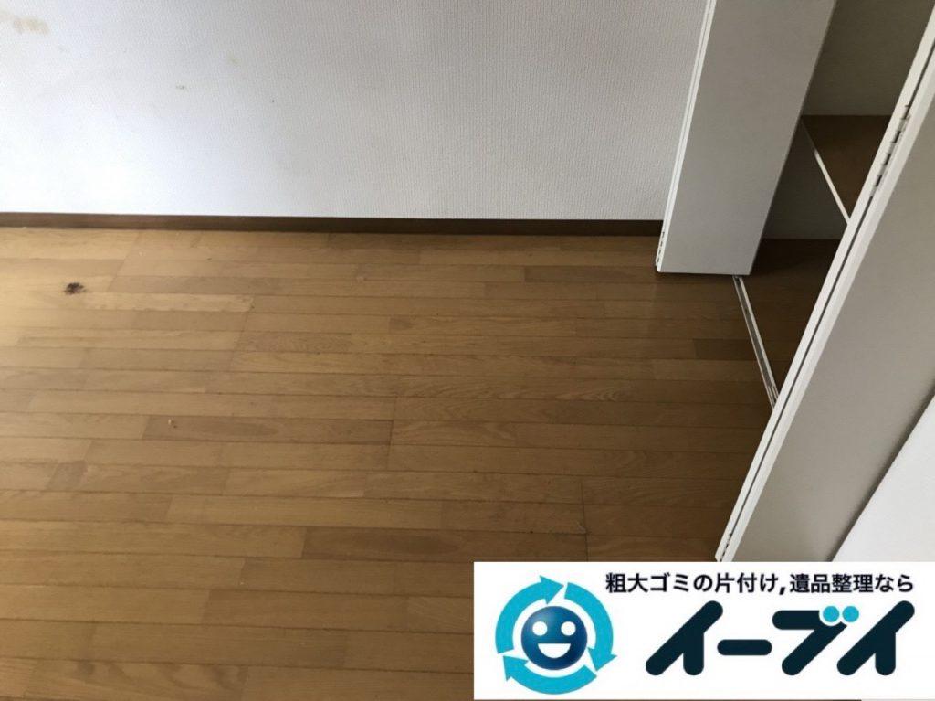 2019年1月11日大阪府大阪市北区でプチゴミ屋敷化した汚部屋の片付け処分の様子。写真4