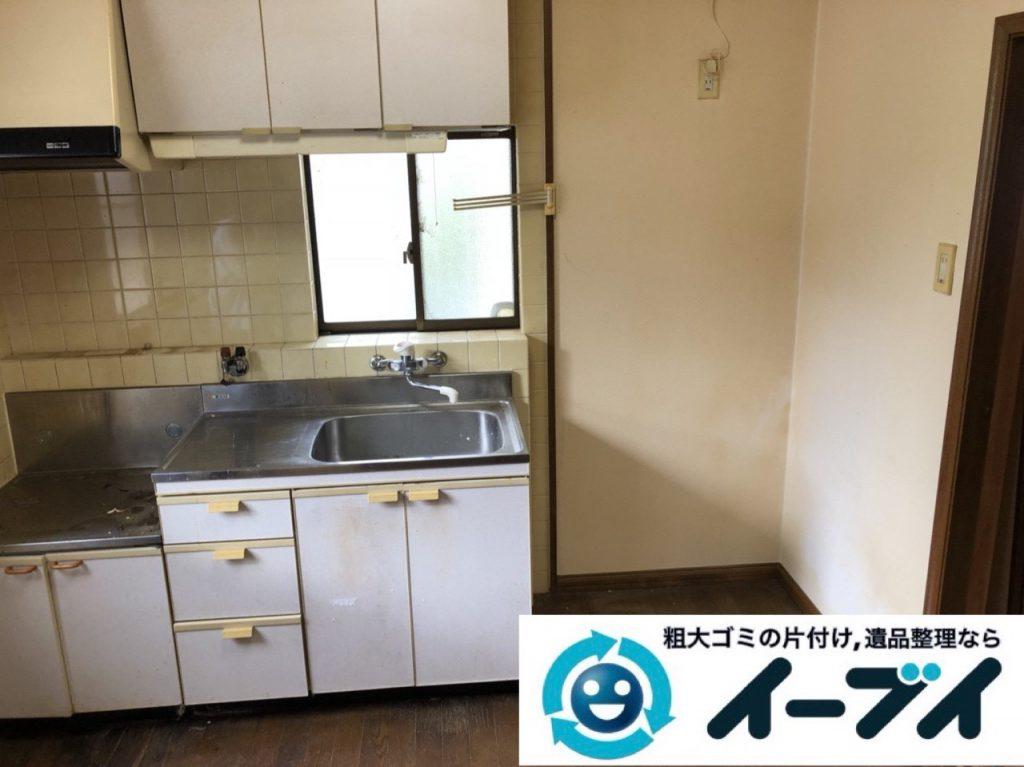2019年1月22日大阪府大阪市天王寺区で冷蔵庫や電子レンジの粗大ゴミ処分をはじめ、細かな日用品などの不用品回収のご依頼。写真1