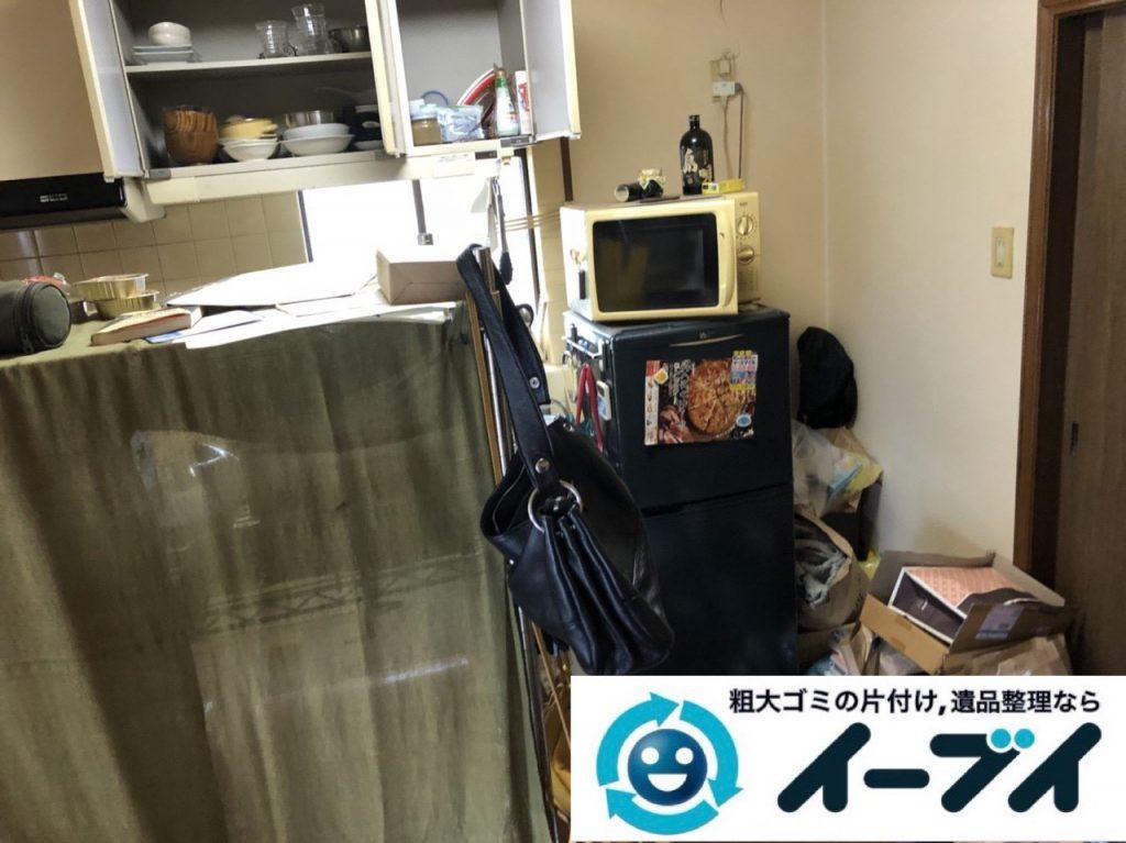 2019年1月22日大阪府大阪市天王寺区で冷蔵庫や電子レンジの粗大ゴミ処分をはじめ、細かな日用品などの不用品回収のご依頼。写真4