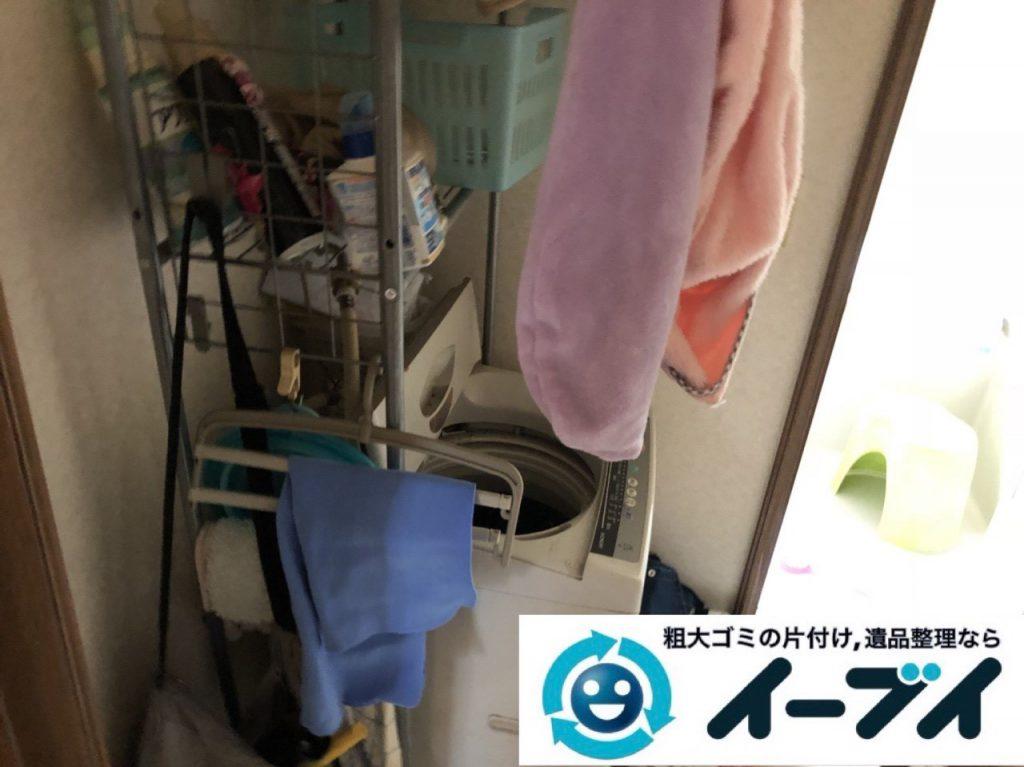 2019年1月19日大阪府大阪市旭区で衣類や生活用品が散乱したお部屋を片付けさせていただきました。写真3