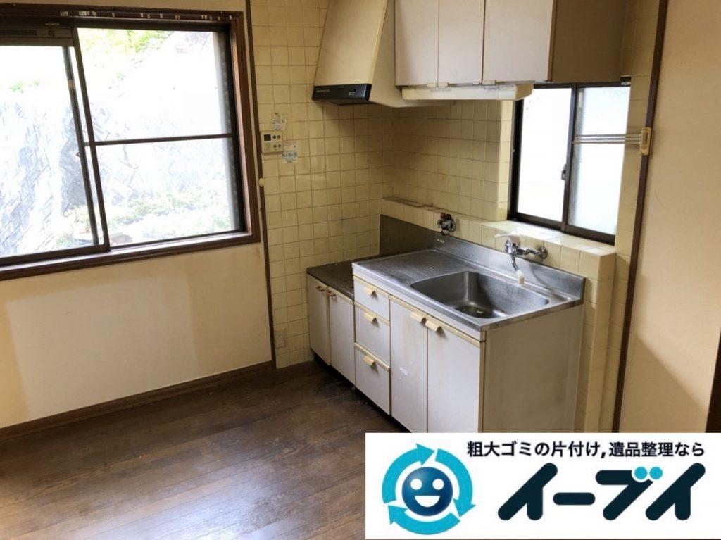 2019年1月22日大阪府大阪市天王寺区で冷蔵庫や電子レンジの粗大ゴミ処分をはじめ、細かな日用品などの不用品回収のご依頼。写真3