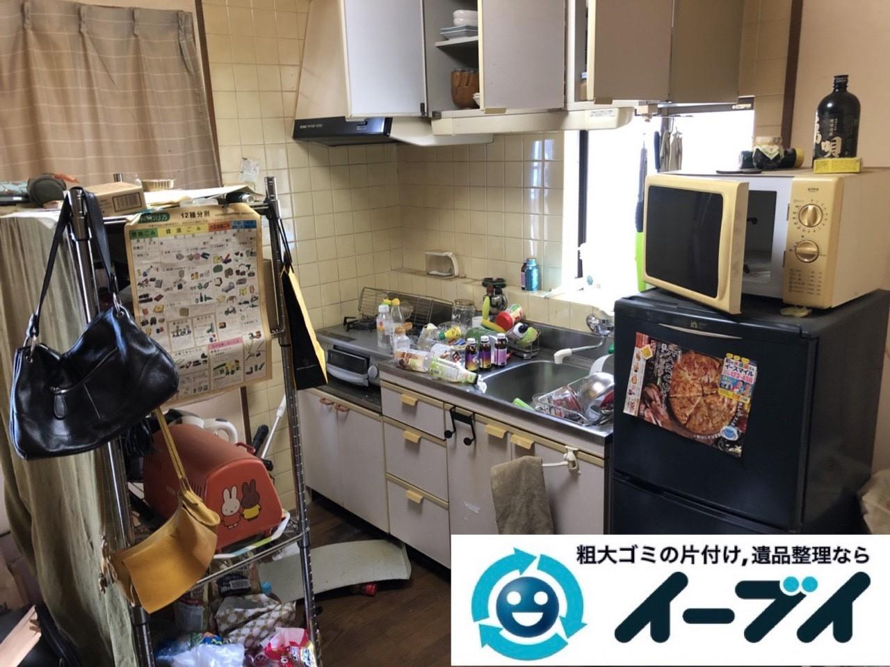 2019年1月22日大阪府大阪市天王寺区で冷蔵庫や電子レンジの粗大ゴミ処分をはじめ、細かな日用品などの不用品回収のご依頼。写真2