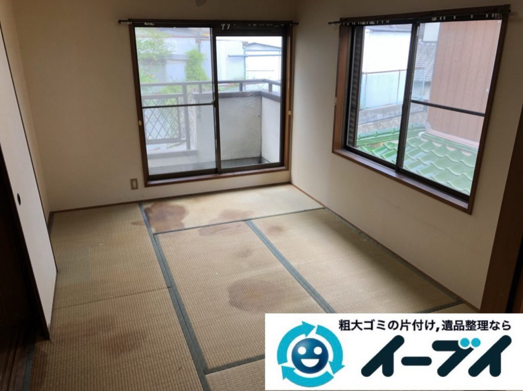 2019年1月19日大阪府大阪市旭区で衣類や生活用品が散乱したお部屋を片付けさせていただきました。写真2