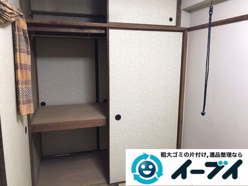 2019年1月12日大阪府大阪市中央区でベッドの大型家具処分などの不用品回収。写真5
