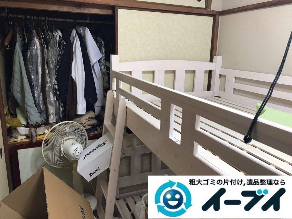 2019年1月12日大阪府大阪市中央区でベッドの大型家具処分などの不用品回収。写真4