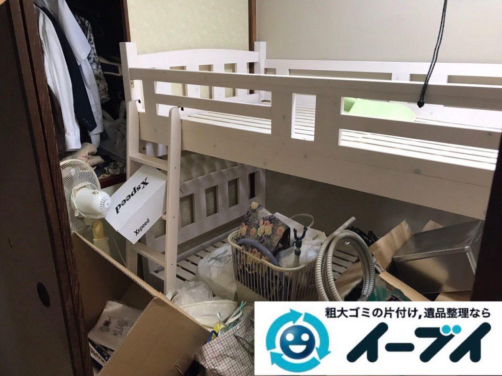 2019年1月12日大阪府大阪市中央区でベッドの大型家具処分などの不用品回収。写真2