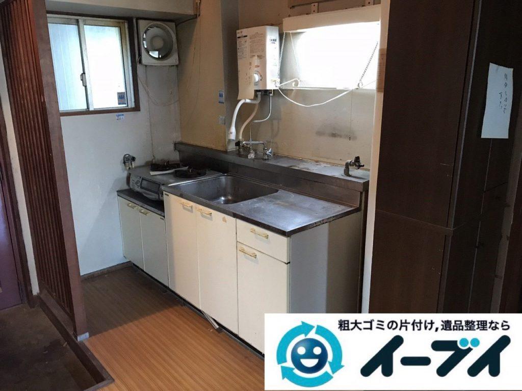 2019年1月17日大阪府大阪市北区でテーブルや冷蔵庫の不用品回収。写真4