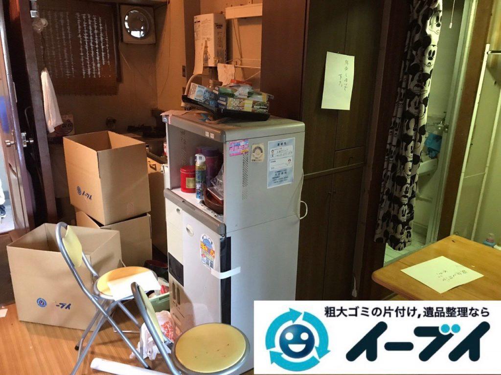 2019年1月17日大阪府大阪市北区でテーブルや冷蔵庫の不用品回収。写真3