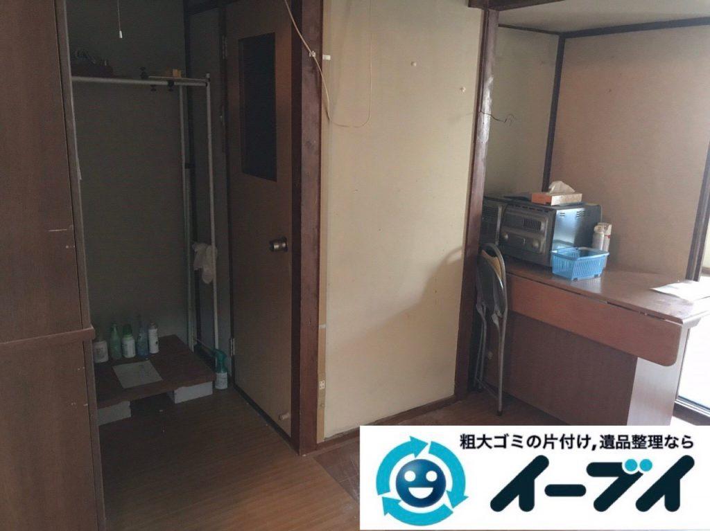 2019年1月17日大阪府大阪市北区でテーブルや冷蔵庫の不用品回収。写真2