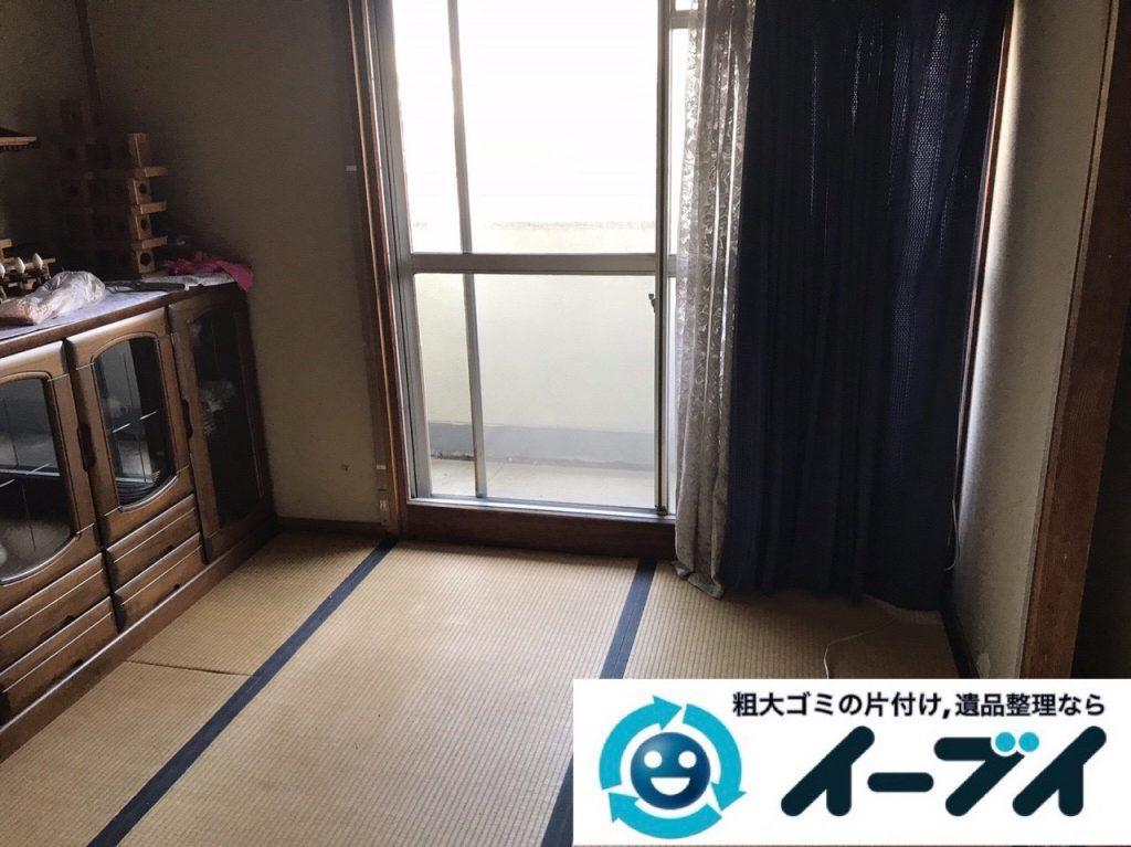 2019年1月13日大阪府大阪市住之江区で椅子や収納棚の粗大ゴミの不用品回収。写真3