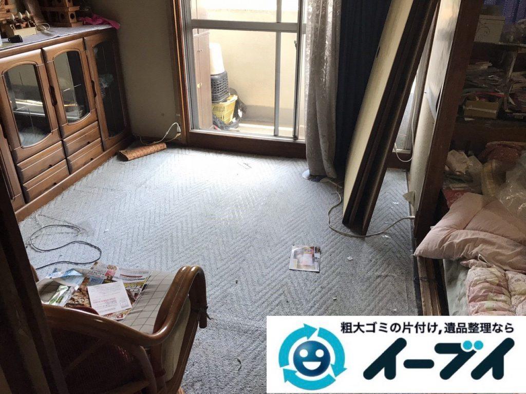 2019年1月13日大阪府大阪市住之江区で椅子や収納棚の粗大ゴミの不用品回収。写真2