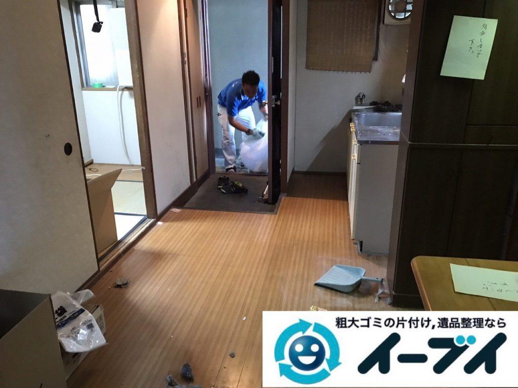 2019年1月24日大阪府大阪市東住吉区でテレビや箪笥などの不用品回収をさせていただきました。写真1