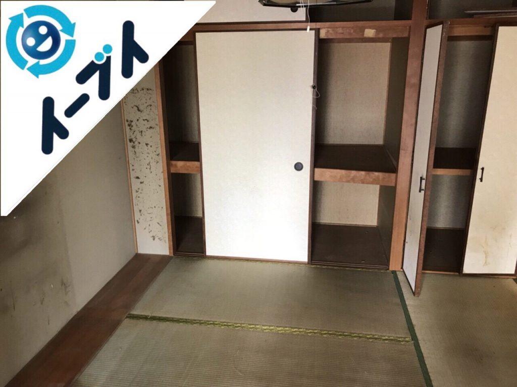 2018年12月15日大阪府高石市で整理タンスや絨毯など部屋丸ごと不用品回収。写真5