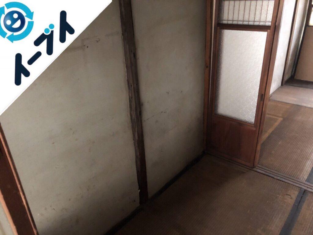 2018年12月23日大阪府堺市南区で空き家整理に伴い残置物処分をしました。写真1