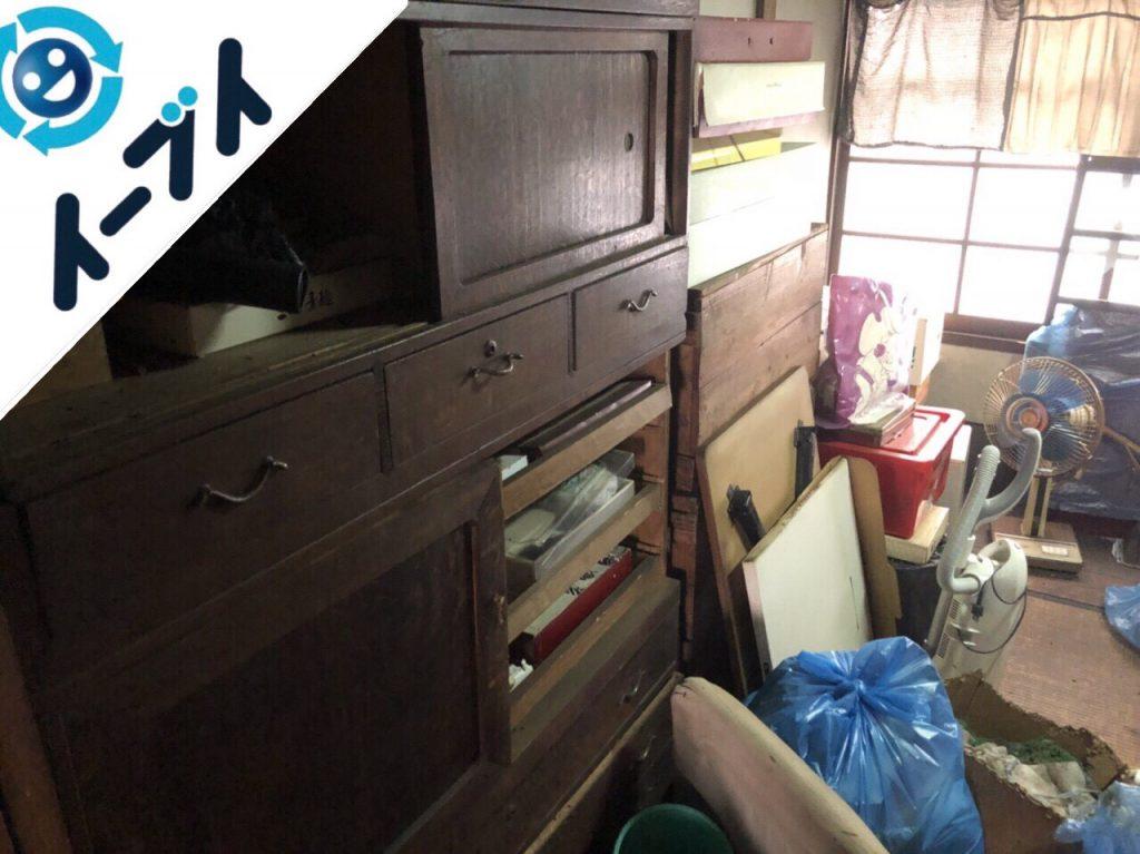2018年12月17日大阪府泉大津市で空き家の家具や粗大ゴミの不用品回収。写真2