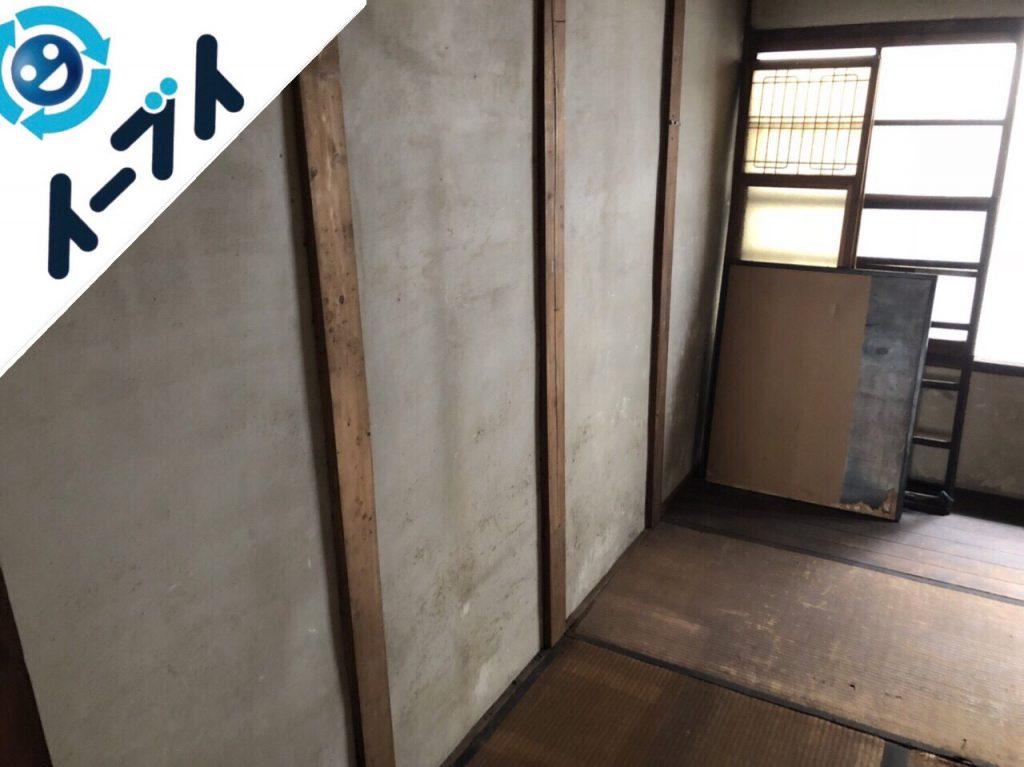 2018年12月17日大阪府泉大津市で空き家の家具や粗大ゴミの不用品回収。写真1
