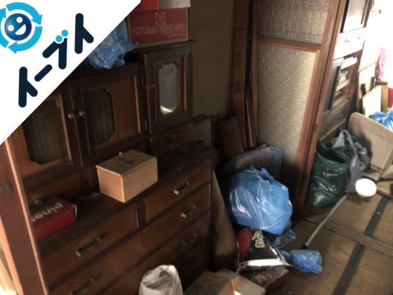 2018年12月23日大阪府堺市南区で空き家整理に伴い残置物処分をしました。写真2
