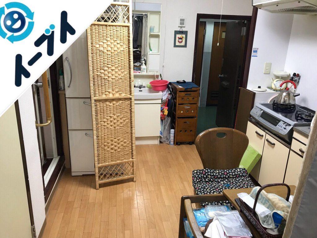 2018年12月31日大阪府高石市で冷蔵庫やテーブルセットなど粗大ゴミの不用品回収。写真4