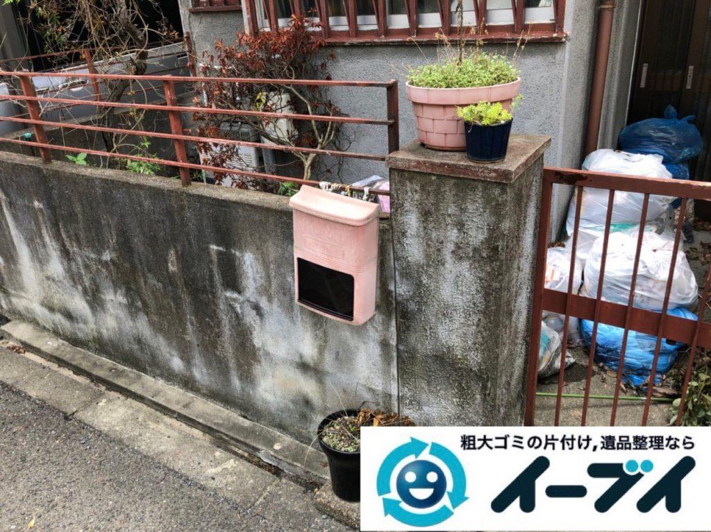 2018年12月28日大阪府大阪市淀川区でお庭の植木鉢などの不用品の処分と片付け。写真4