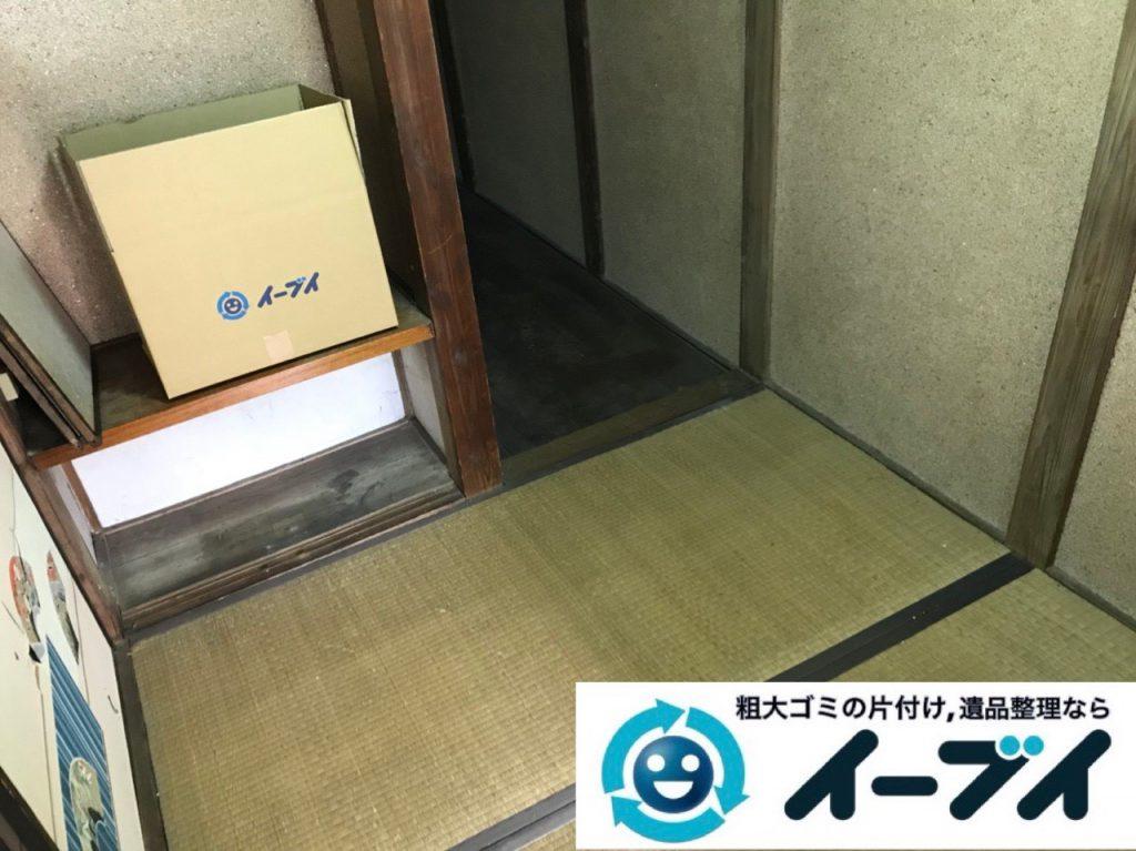 2018年12月29日大阪府大阪市鶴見区で実家の片付けで出た本などの不用品回収。写真3