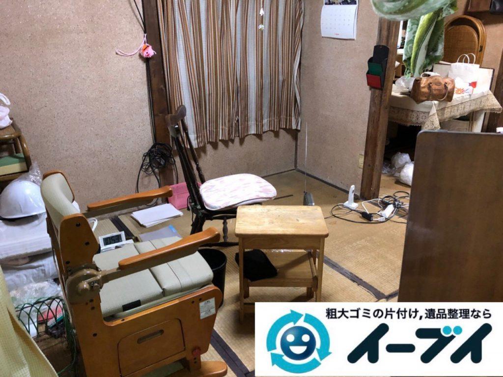 2018年12月9日大阪府大阪市住之江区で施設入居に伴い生活用品や家財の回収依頼。写真4
