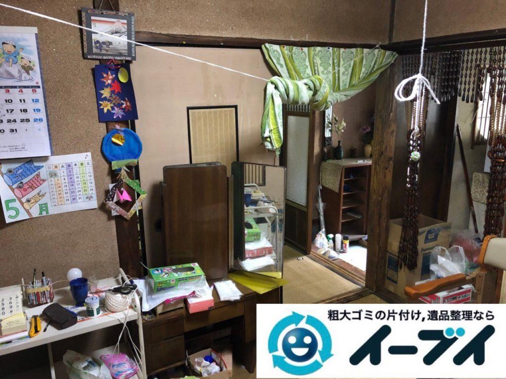 2018年12月9日大阪府大阪市住之江区で施設入居に伴い生活用品や家財の回収依頼。写真2