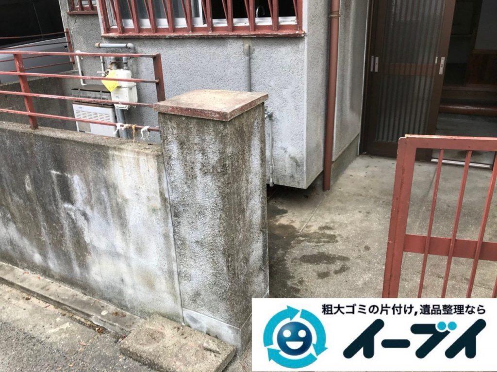 2018年12月28日大阪府大阪市淀川区でお庭の植木鉢などの不用品の処分と片付け。写真3
