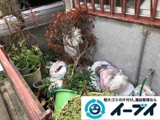 2018年12月28日大阪府大阪市淀川区でお庭の植木鉢などの不用品の処分と片付け。写真2