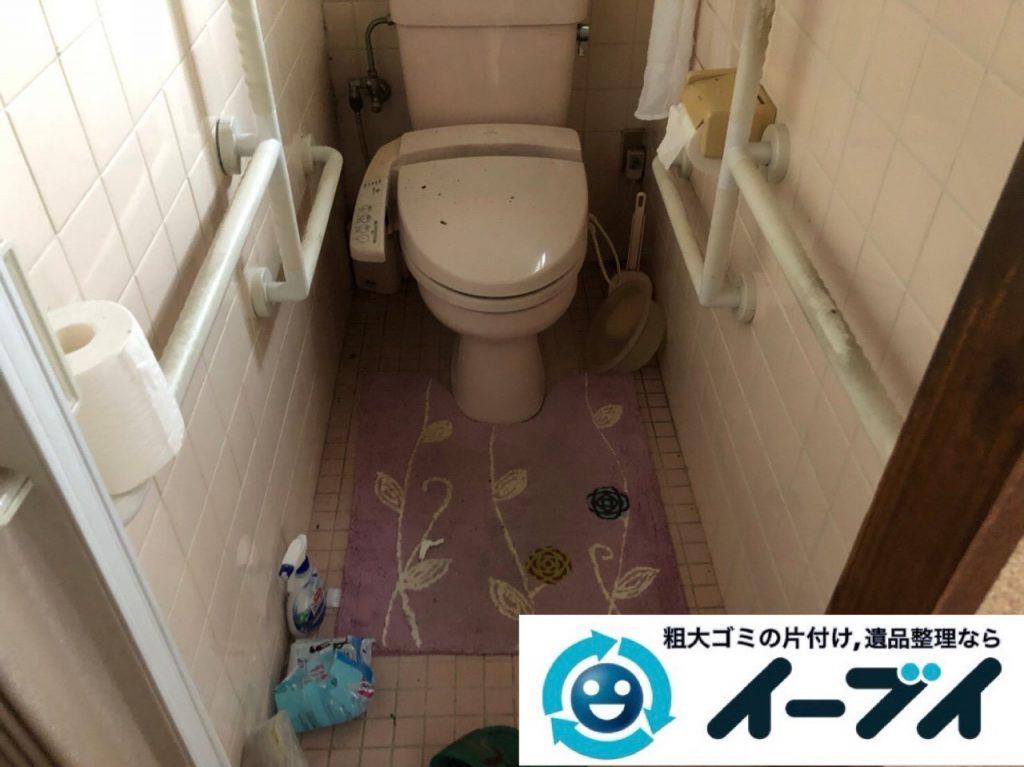 2018年12月26日大阪府大阪市住之江区で長年使用いない物があふれたゴミ屋敷のお片付け。写真2