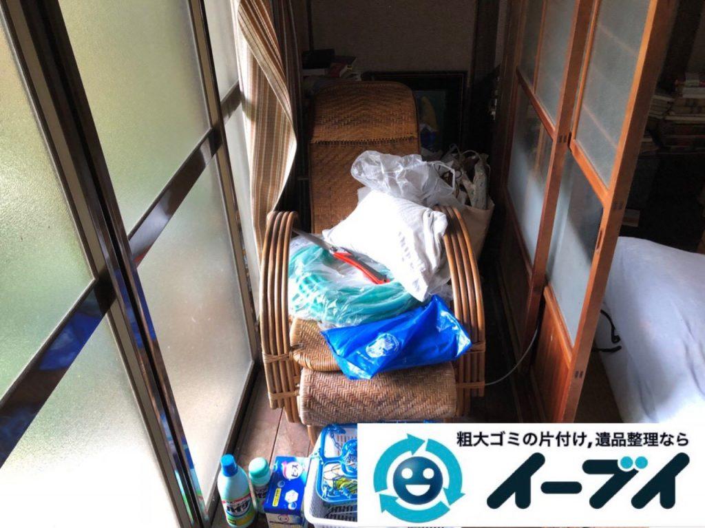 2018年12月21日大阪府大阪市西成区で押し入れの不用品や生活ゴミなどの片付け依頼。写真3