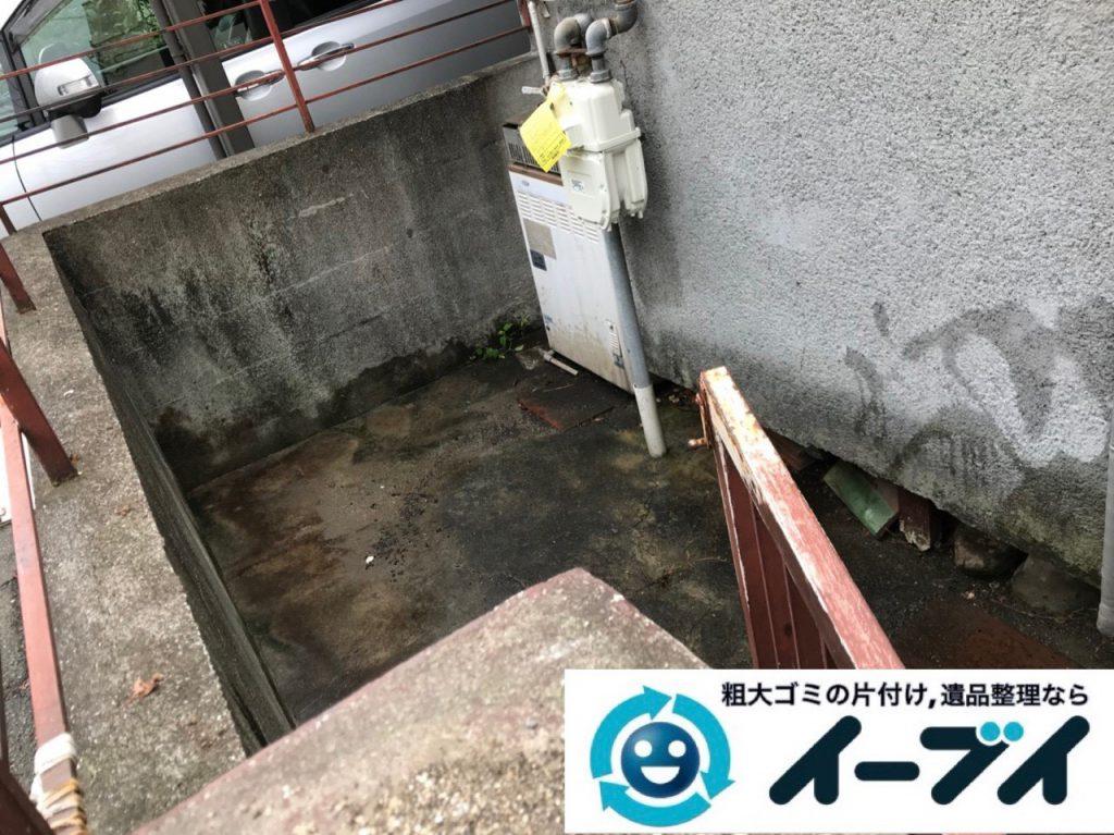 2018年12月28日大阪府大阪市淀川区でお庭の植木鉢などの不用品の処分と片付け。写真1