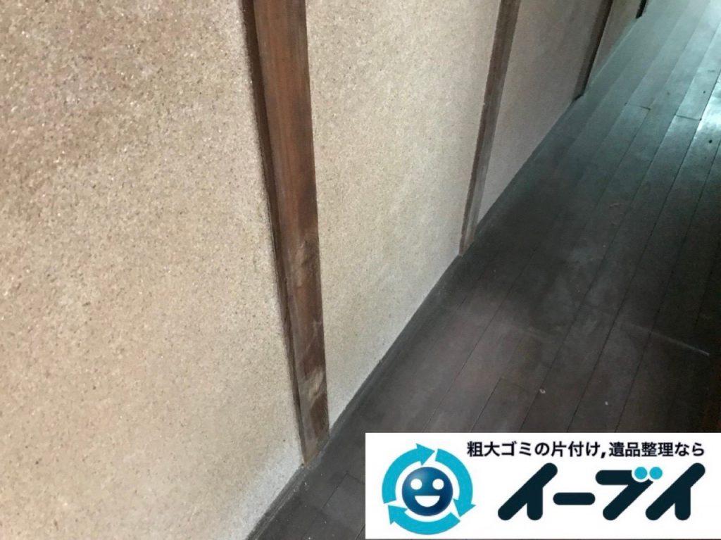2018年12月29日大阪府大阪市鶴見区で実家の片付けで出た本などの不用品回収。写真1