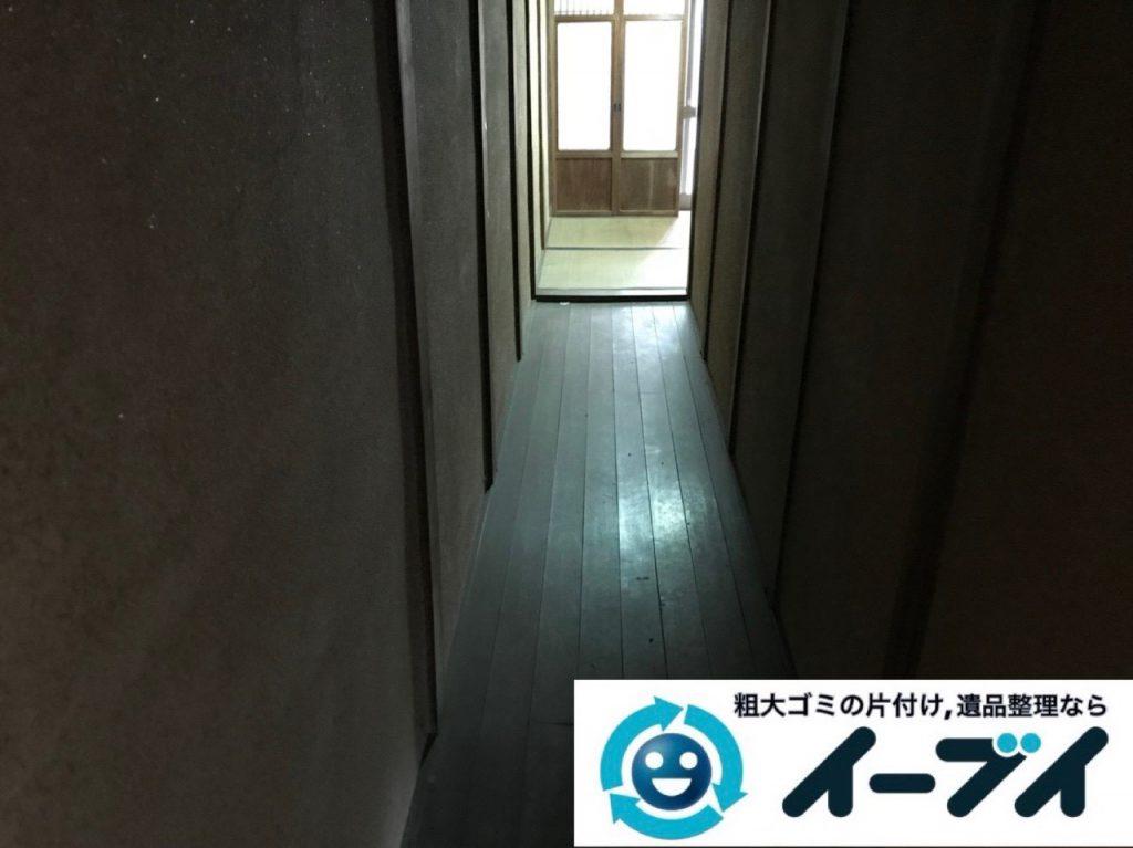 2018年12月24日大阪府大阪市平野区で物置に眠っていた不用品や下駄箱などの回収をしました。写真1