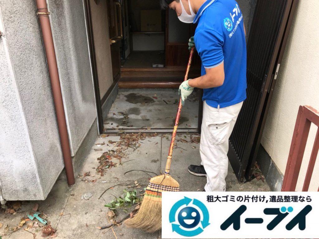 2018年11月6日大阪府東大阪市で放置していたお庭の不用品の回収や片付けのご依頼。写真1
