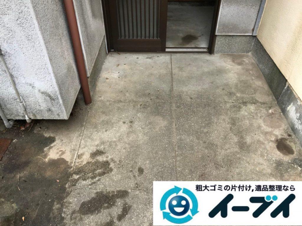 2018年11月6日大阪府東大阪市で放置していたお庭の不用品の回収や片付けのご依頼。写真2