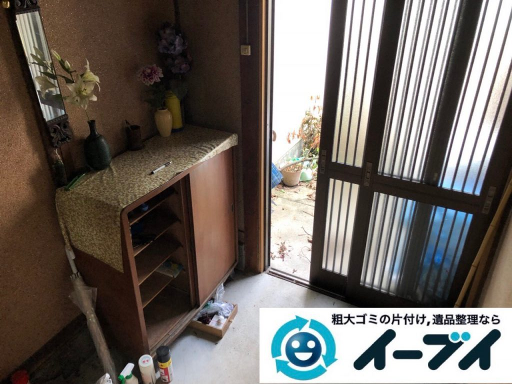 2018年12月24日大阪府大阪市平野区で物置に眠っていた不用品や下駄箱などの回収をしました。写真4