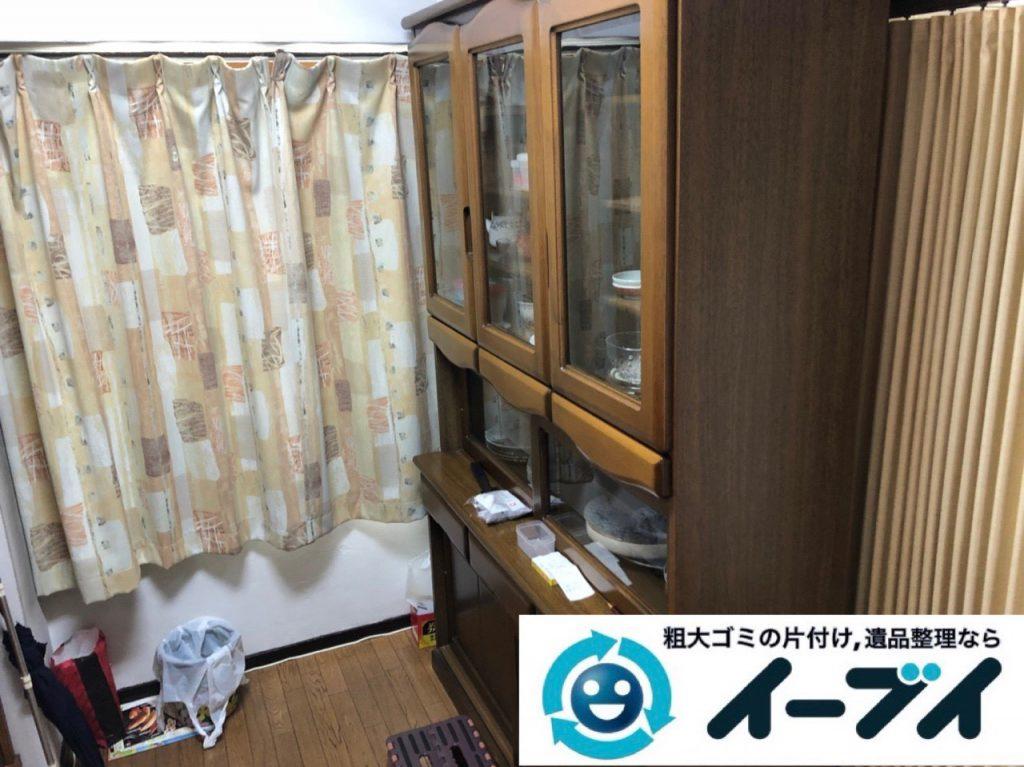 2018年12月10日大阪府堺市堺区で遺品整理に伴い家財道具の処分や仕分け作業の様子。写真3