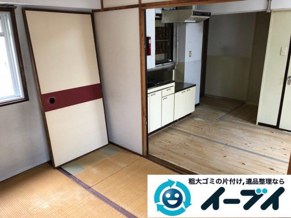 2018年12月7日大阪府大阪市港区で施設入居に伴い家財道具の処分片付け。写真1