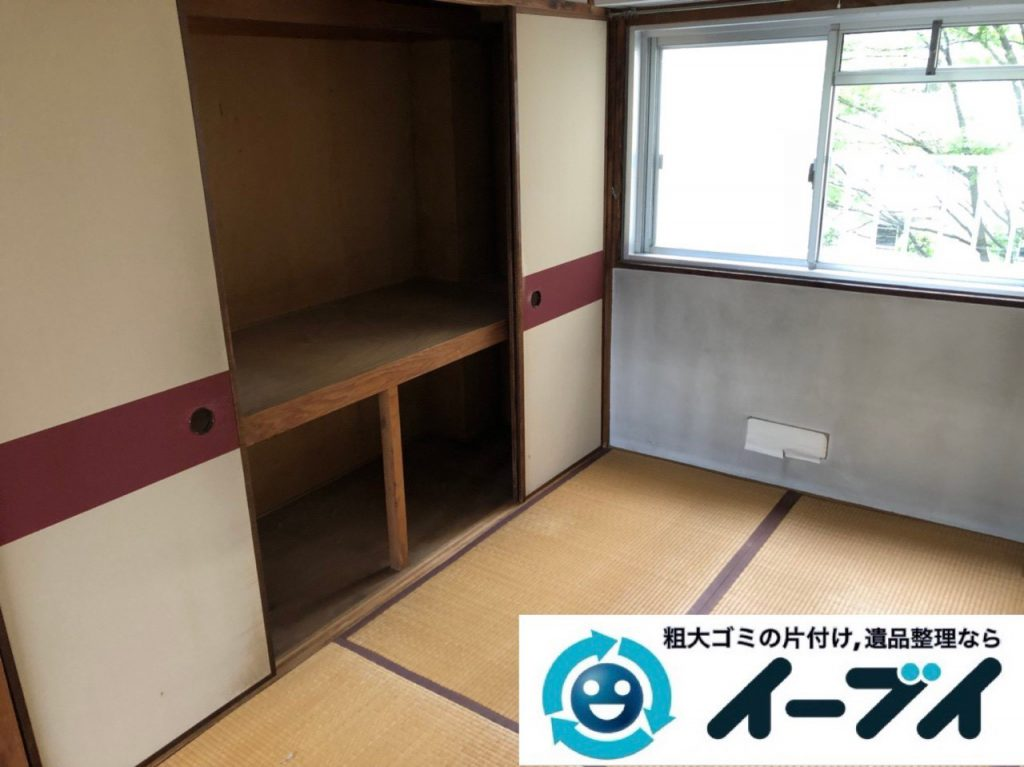 2018年12月19日大阪府大阪市城東区で転居に伴い洗濯機や生活用品などの片付け処分。写真4