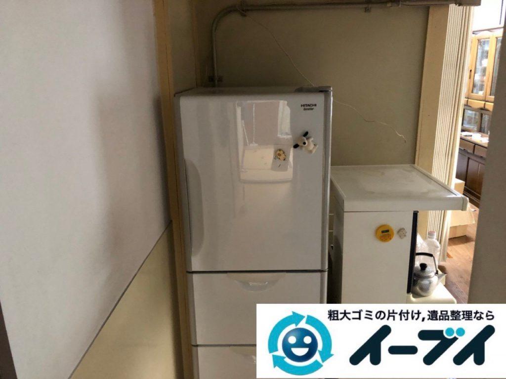 2018年12月13日大阪府大阪市福島区で転居に伴い食器棚や家電などの不用品回収。写真2