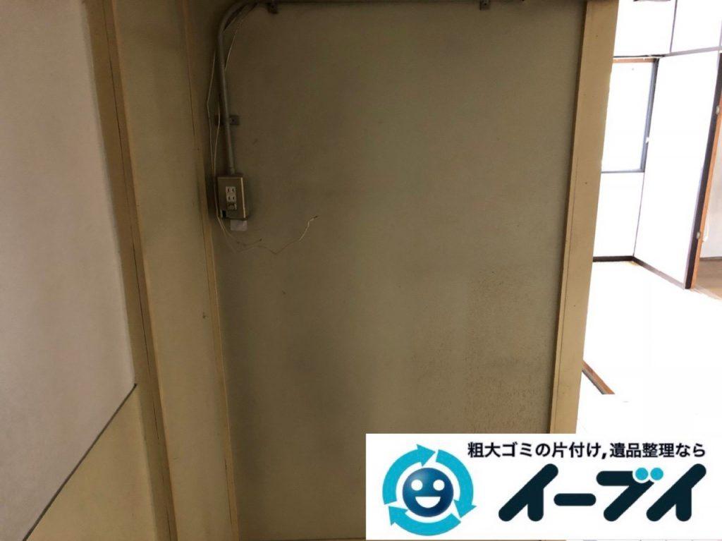 2018年12月13日大阪府大阪市福島区で転居に伴い食器棚や家電などの不用品回収。写真1