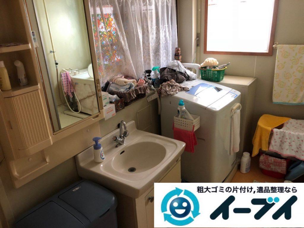 2018年12月19日大阪府大阪市城東区で転居に伴い洗濯機や生活用品などの片付け処分。写真3