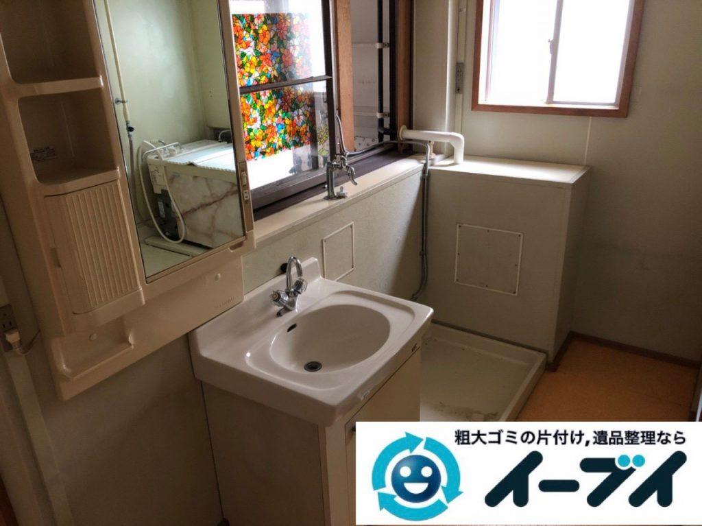2018年12月19日大阪府大阪市城東区で転居に伴い洗濯機や生活用品などの片付け処分。写真2