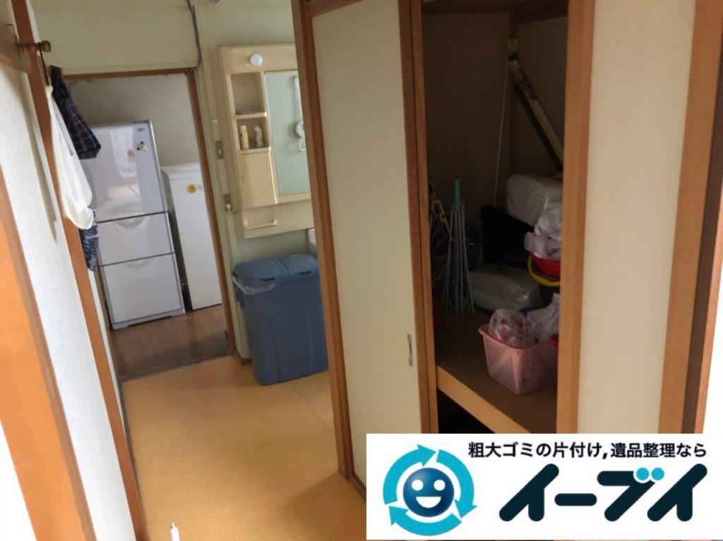 2018年12月25日大阪府堺市北区で冷蔵庫や押し入れ収納ケースなど不用品回収しました。写真2