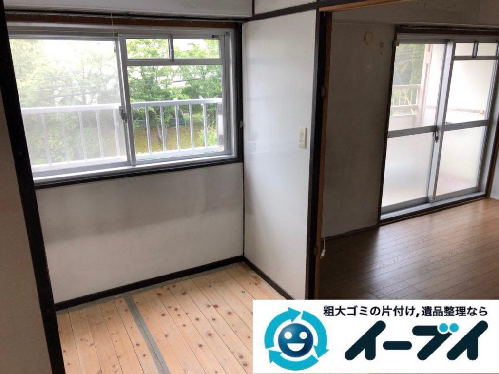2018年12月10日大阪府堺市堺区で遺品整理に伴い家財道具の処分や仕分け作業の様子。写真2
